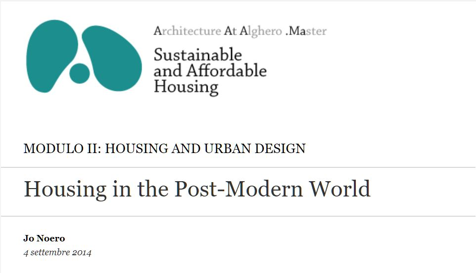 Housing in the Post-Modern World