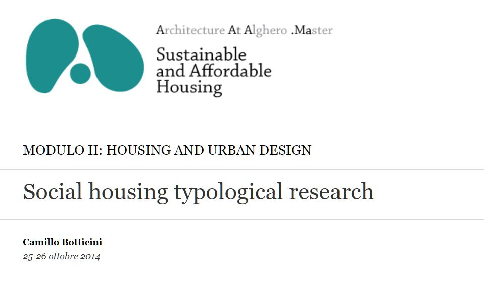 Social housing typological research
