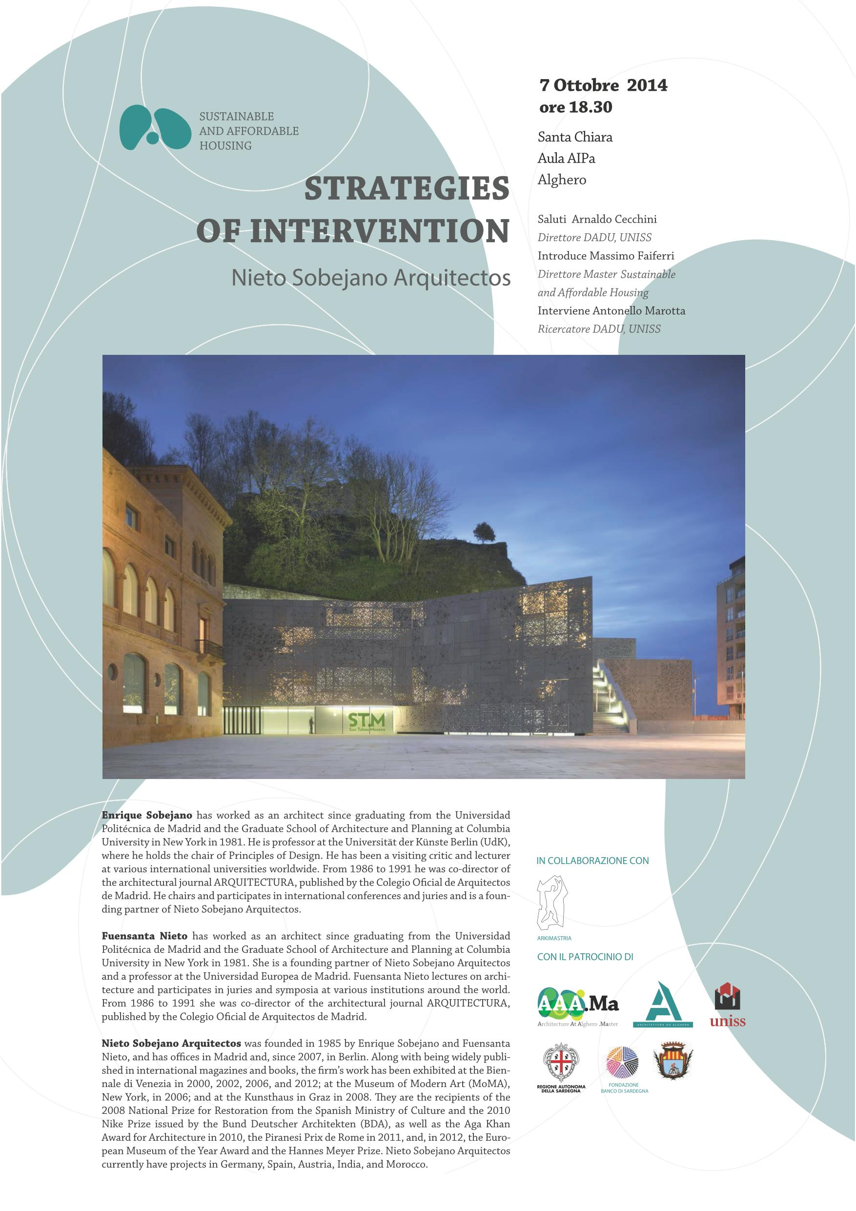 STRATEGIES OF INTERVENTION