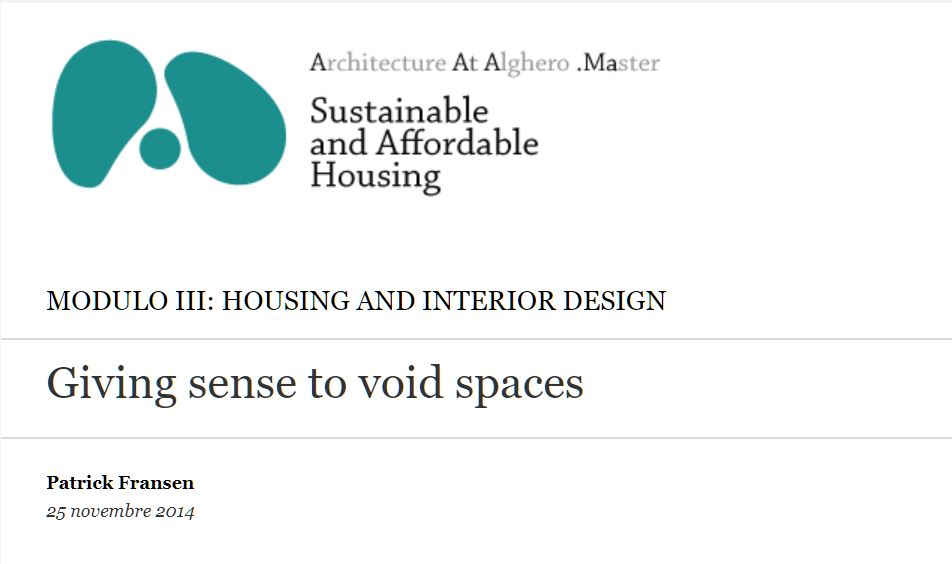 Giving sense to void spaces