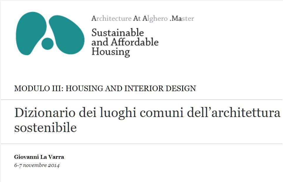 Dizionario dei luoghi comuni dell'architettura sostenibile