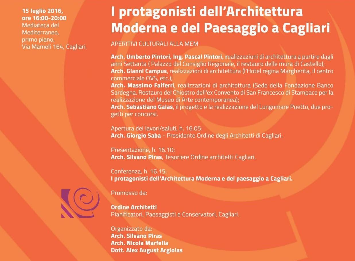 I protagonisti dell'Architettura Moderna e del Paesaggio a Cagliari