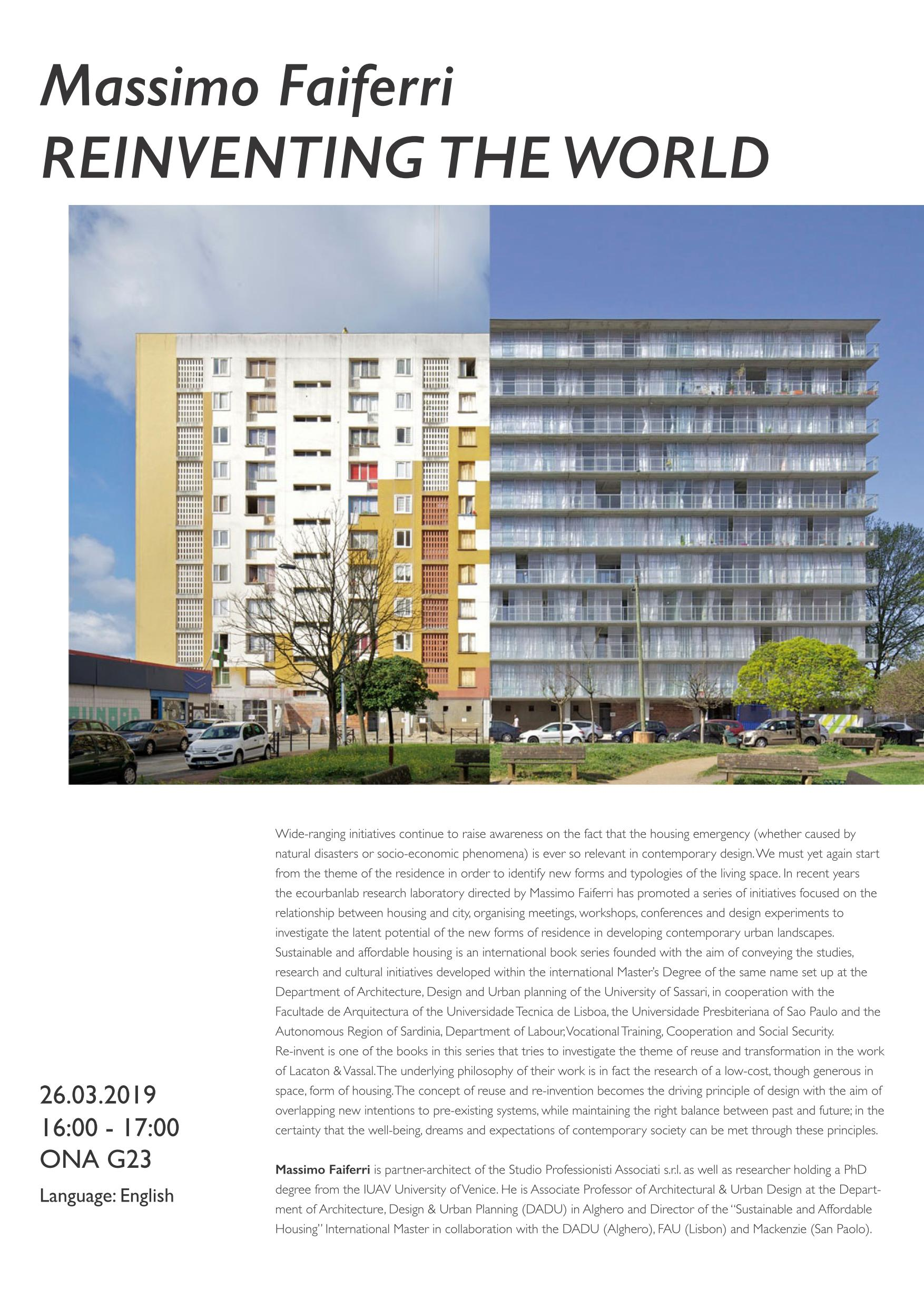 REINVENTING THE WORLD Reuse and transformation as a topic for contemporary housing