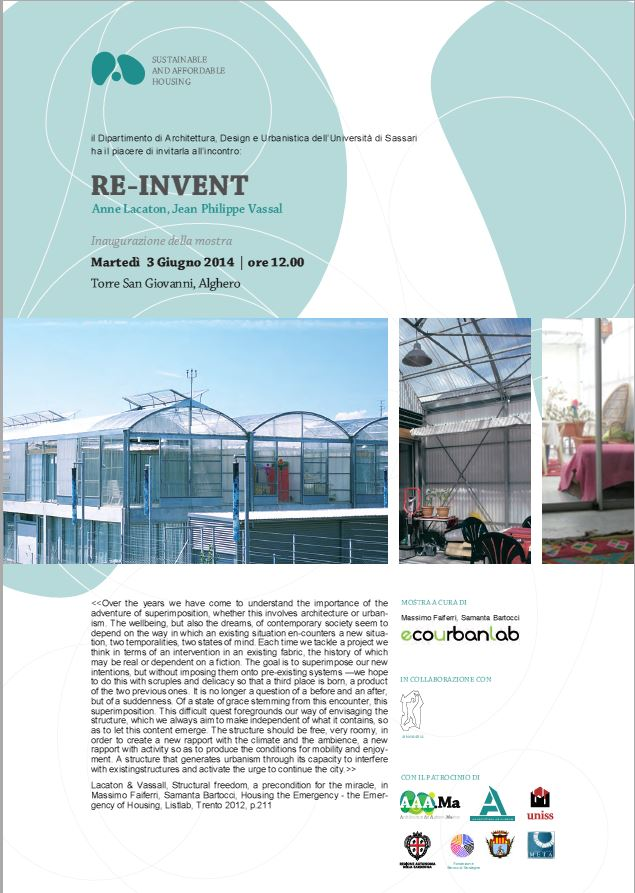 RE-INVENT  Anne Lacaton Jean Philippe Vassal