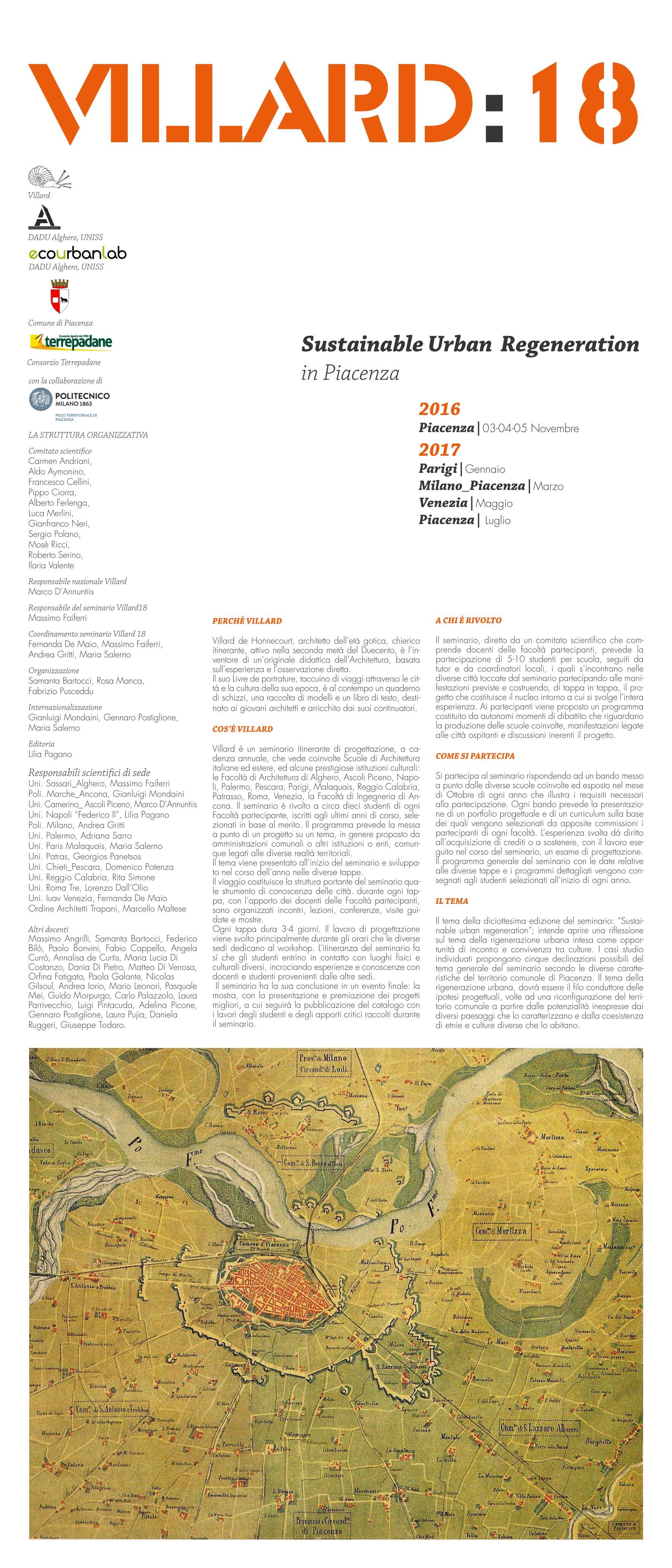 Villard 18                 Sustainable Urban  Regeneration in Piacenza