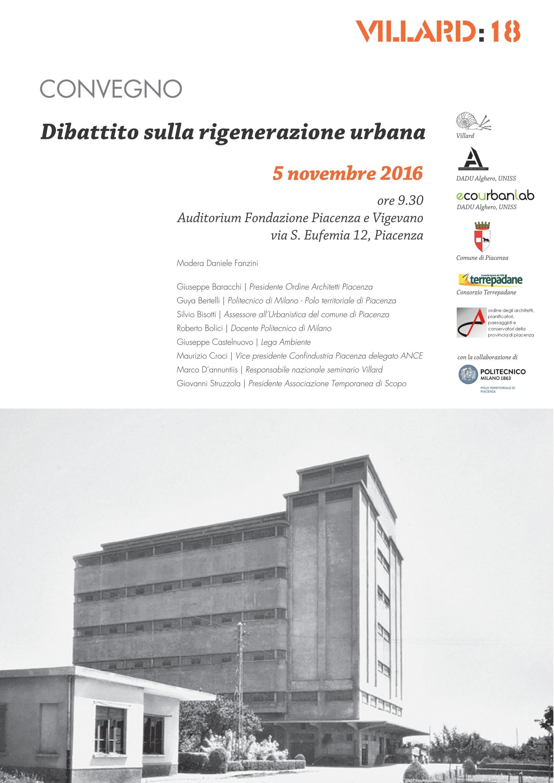 Convegno-Dibattito sulla rigenerazione urbana