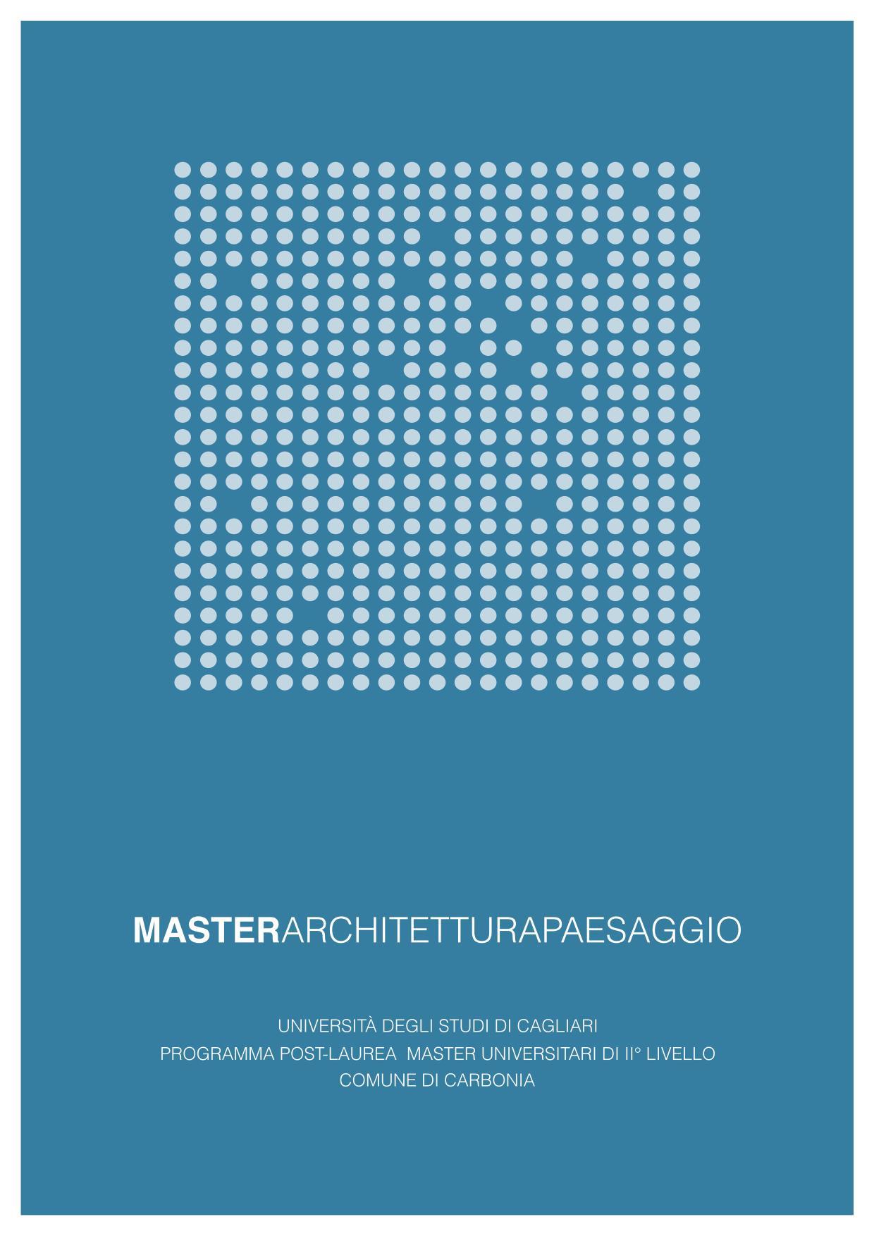 MASTER ARCHITETTURA PAESAGGIO