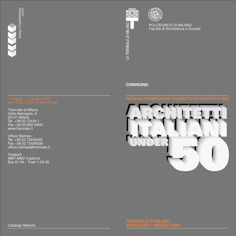 RICERCA FORMAZIONE PROGETTO DI ARCHITETTURA