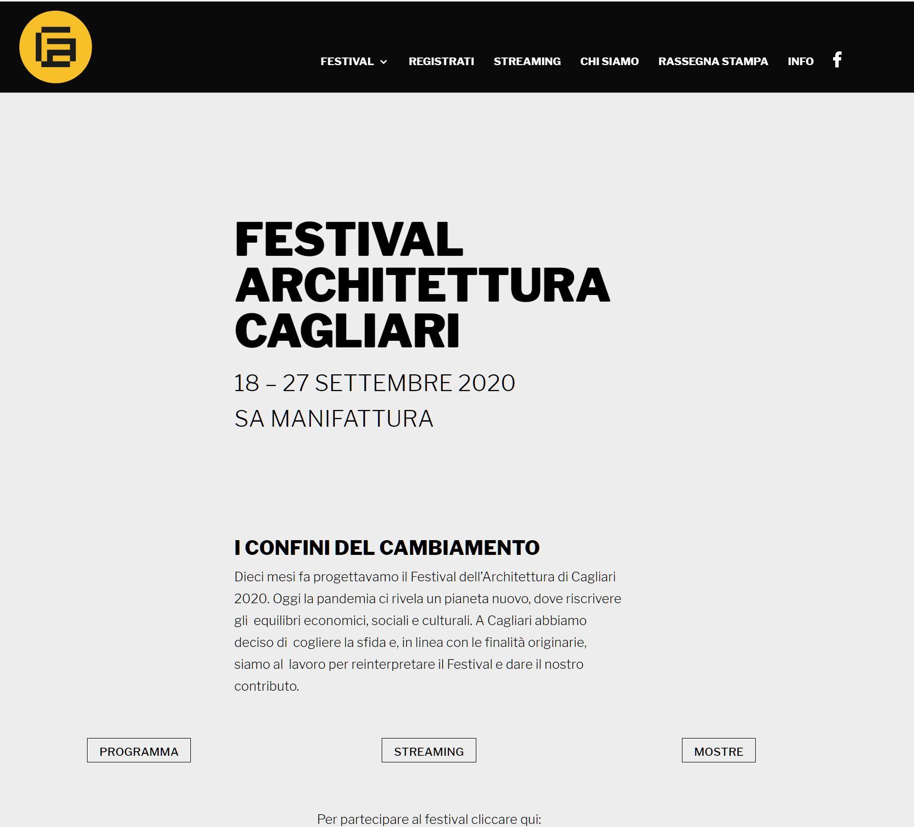 FESTIVAL ARCHITETTURA CAGLIARI 2020