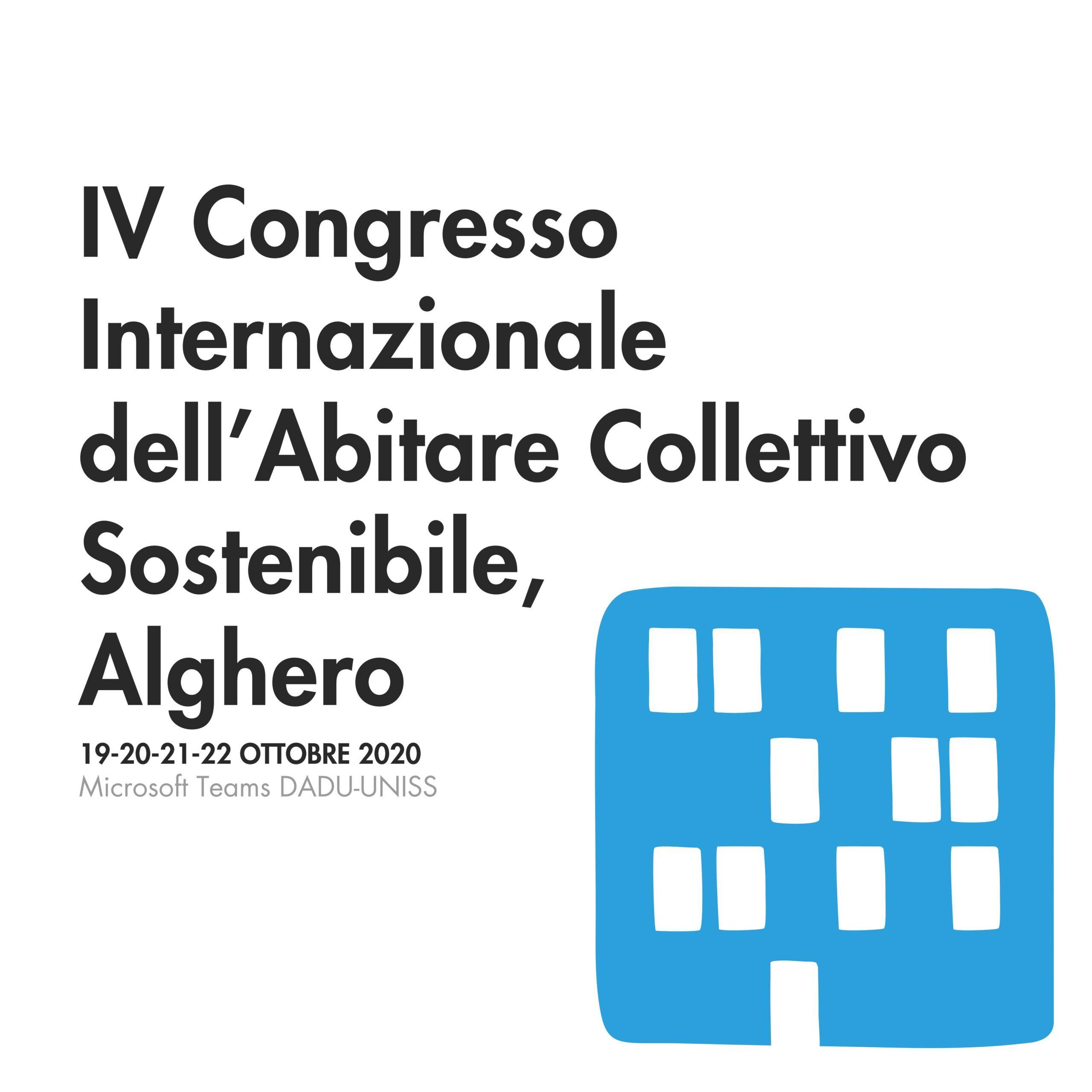 IV Congresso Internazionale dell'Abitare Collettivo  Sostenibile, Alghero